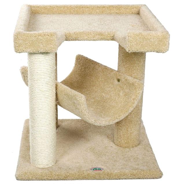 "Go Pet Club Premium Carpeted Cat Tree Scratcher Furniture LP-827, 23"" H - Carousel image #1"