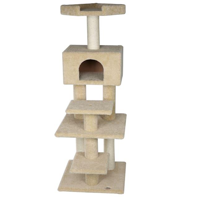 """Go Pet Club Premium Carpeted Cat Tree Condo LP-817, 64"""" H - Carousel image #1"""