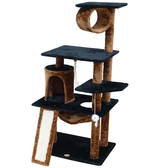 """Go Pet Club Kitten Tree Condo with Scratching Board, 53.5"""" H - Carousel image #1"""