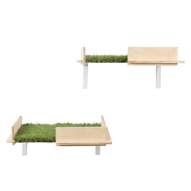 "On2Pets Cat Box Canopy Shelves White, 6"" H - Carousel image #1"