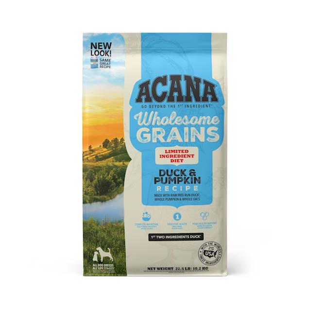 ACANA Wholesome Grains Duck & Pumpkin Dry Dog Food, 22.5 lbs. - Carousel image #1