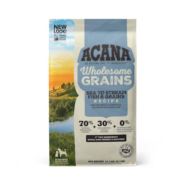 ACANA Wholesome Grains Sea To Stream, Fish & Grains Recipe Dry Dog Food, 22.5 lbs. - Carousel image #1