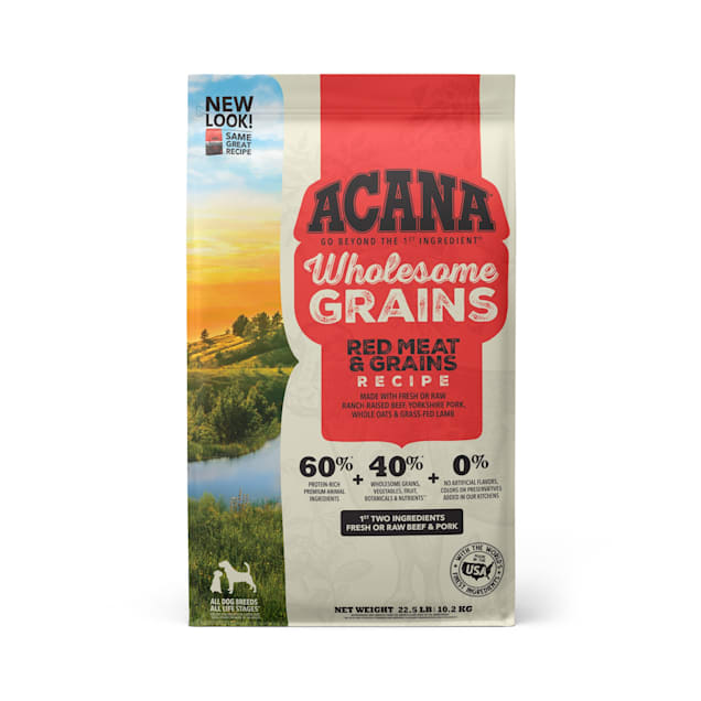 ACANA Wholesome Grains Red Meat & Grains Recipe Dry Dog Food, 22.5 lbs. - Carousel image #1