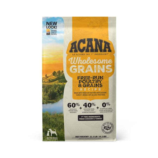 ACANA Wholesome Grains Free-Run Poultry & Grains Recipe Dry Dog Food, 22.5 lbs. - Carousel image #1