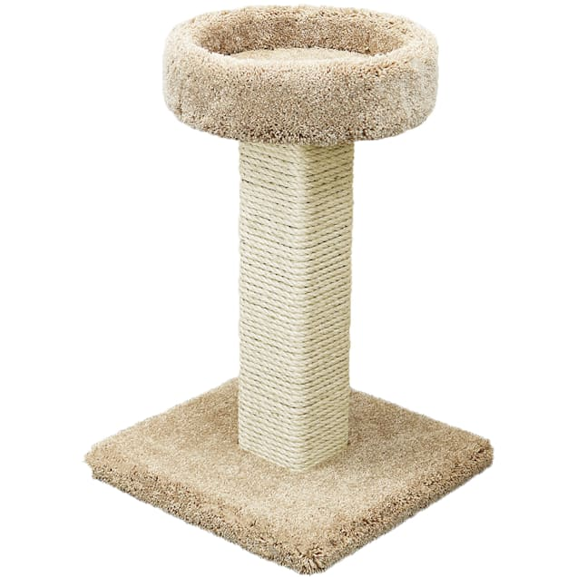 "Prestige Cat Trees 1 Level Solid Wood Tan Cat Scratching Post and Sleeper, 32"" H - Carousel image #1"