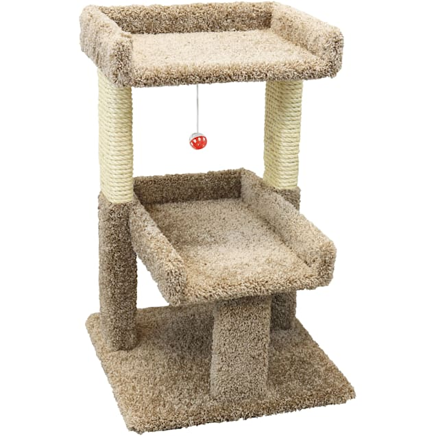 """New Cat Condos 2 Level Brown Cat Play Perch, 32"""" H - Carousel image #1"""