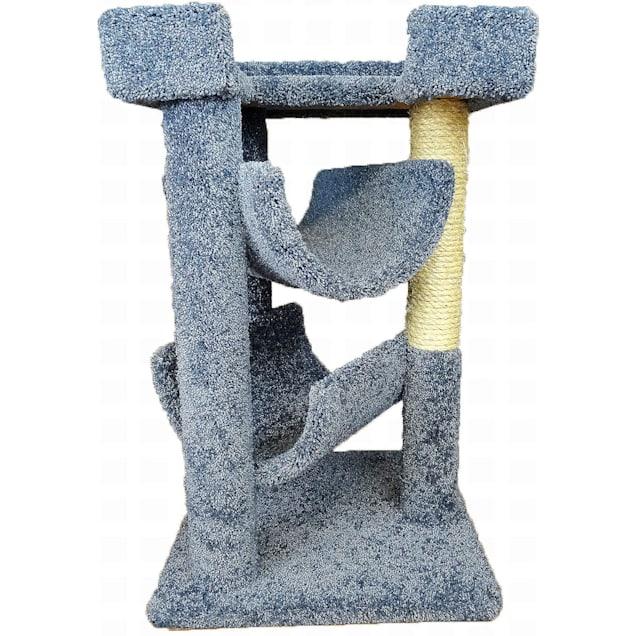 "New Cat Condos 3 Level Premier Blue Cat Scratch & Lounge, 32"" H - Carousel image #1"