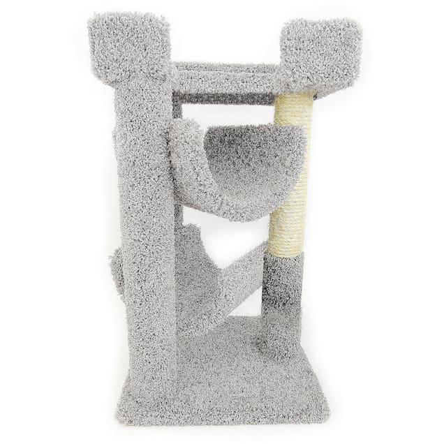 "New Cat Condos 3 Level Premier Grey Cat Scratch & Lounge, 32"" H - Carousel image #1"
