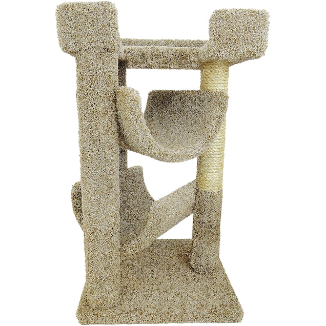"""New Cat Condos 3 Level Premier Brown Cat Scratch & Lounge, 32"""" H - Carousel image #1"""