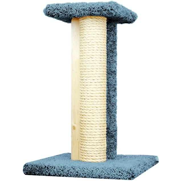 """New Cat Condos 1 Level Premier Blue Triple Cat Scratcher, 24"""" H - Carousel image #1"""
