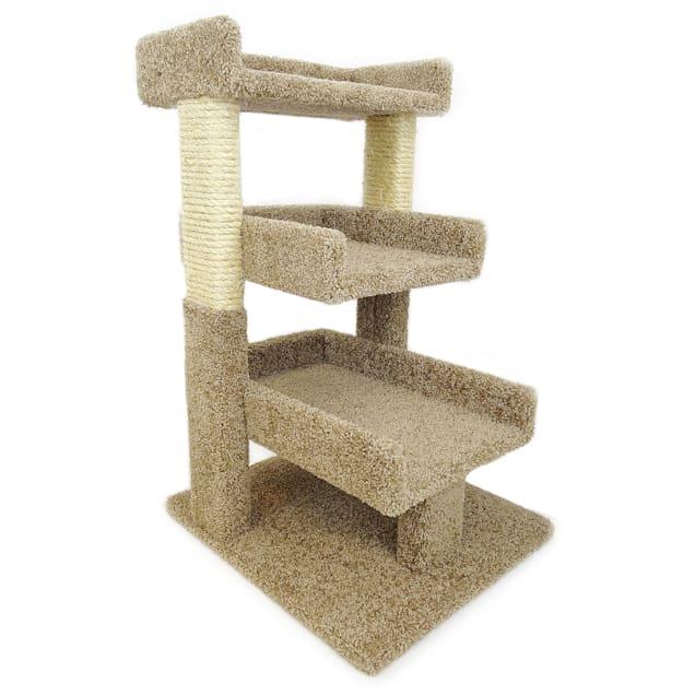 New Cat Condos 3 Level Premier Brown Triple Cat Perch, Medium - Carousel image #1