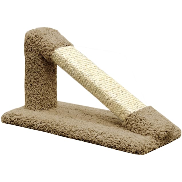 """New Cat Condos Premier Brown Tilted Scratching Post, 12"""" H - Carousel image #1"""