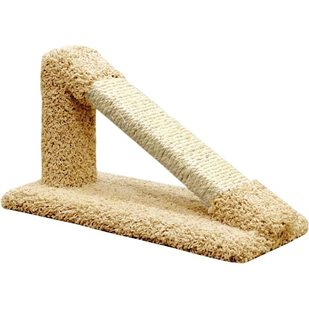 """New Cat Condos Premier Tan Tilted Scratching Post, 12"""" H - Carousel image #1"""