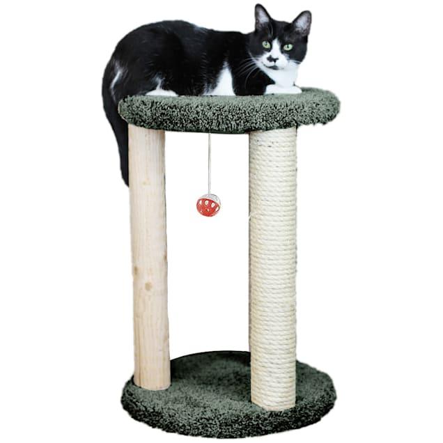 "New Cat Condos 1 Level Premier Green Round Multi-scratcher, 24"" H - Carousel image #1"