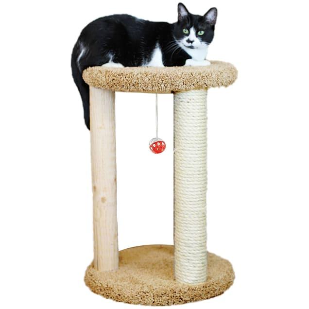 "New Cat Condos 1 Level Premier Tan Round Multi-scratcher, 24"" H - Carousel image #1"