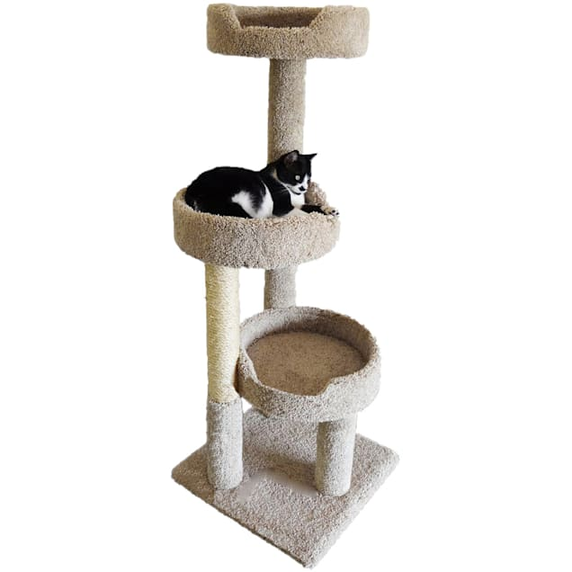 """New Cat Condos 3 Level Premier Brown Kitty Pad Tree, 50"""" H - Carousel image #1"""