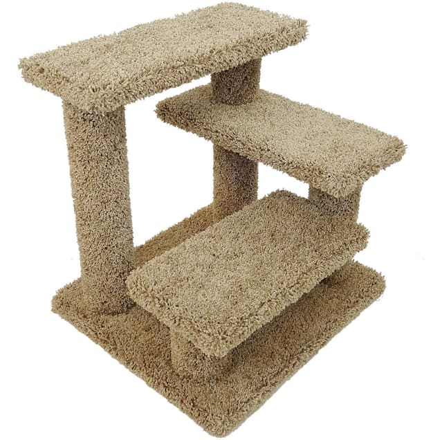"""New Cat Condos 3 Level Brown Crazy Pet Steps, 20"""" H - Carousel image #1"""