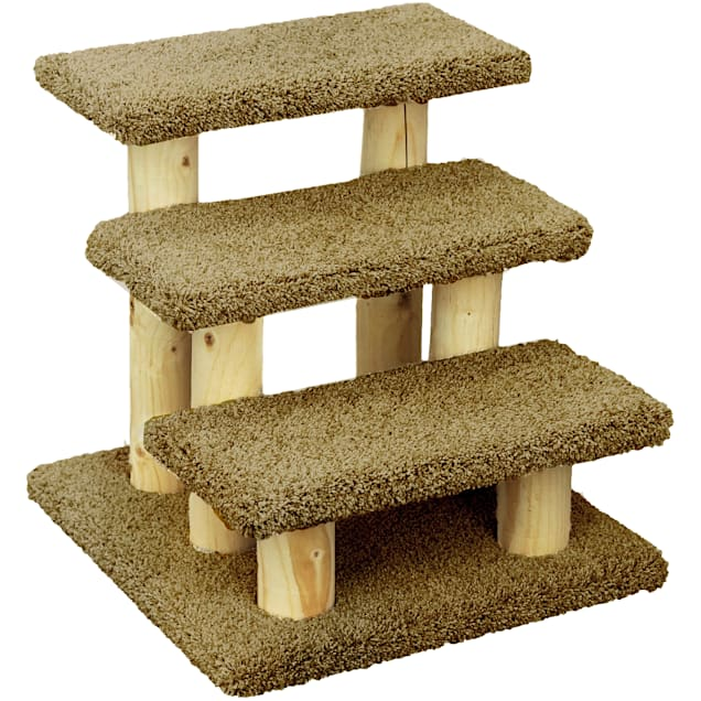 "New Cat Condos 3 Level Premier Brown Post Stairs, 20"" H - Carousel image #1"
