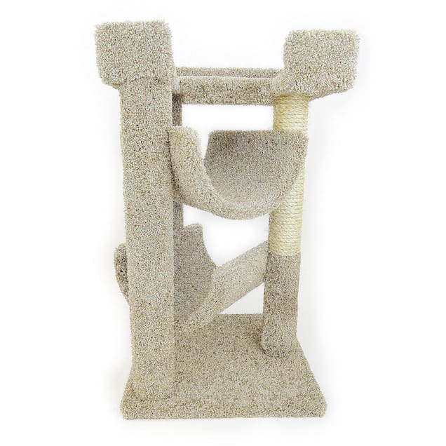 "New Cat Condos 3 Level Premier Tan Cat Scratch & Lounge, 32"" H - Carousel image #1"