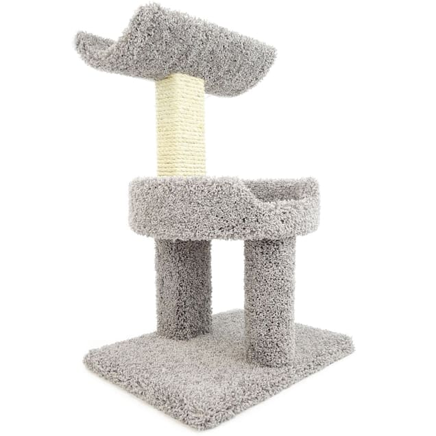 """New Cat Condos 2 Level Premier Grey Window Perch for Cats, 30"""" H - Carousel image #1"""