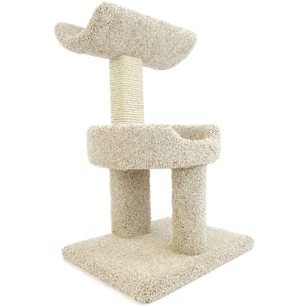"""New Cat Condos 2 Level Premier Tan Window Perch for Cats, 30"""" H - Carousel image #1"""