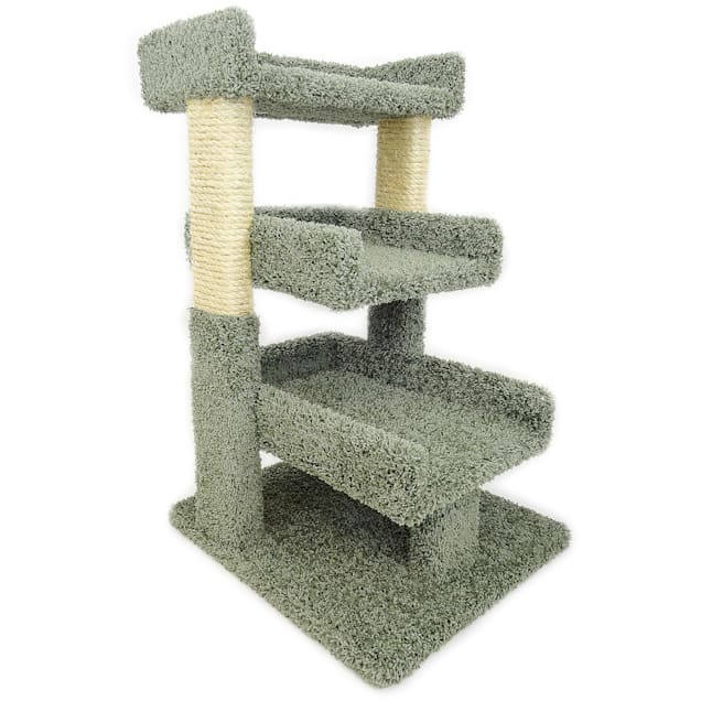 New Cat Condos 3 Level Premier Green Triple Cat Perch, Medium - Carousel image #1