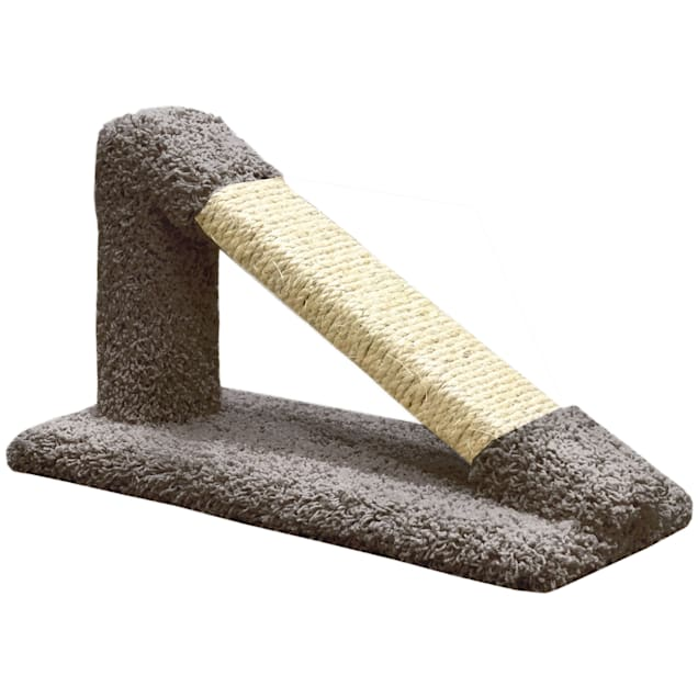 """New Cat Condos Premier Grey Tilted Scratching Post, 12"""" H - Carousel image #1"""