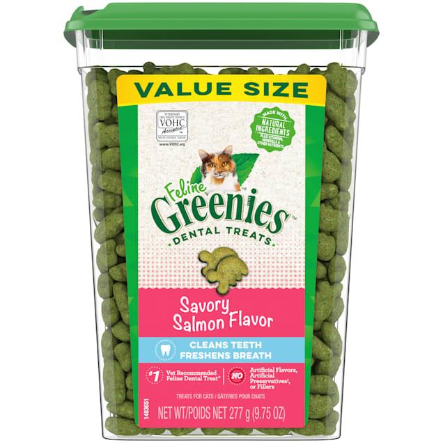 Feline Greenies Savory Salmon Flavor Adult Dental Cat Treats, 9.75 oz. - Carousel image #1