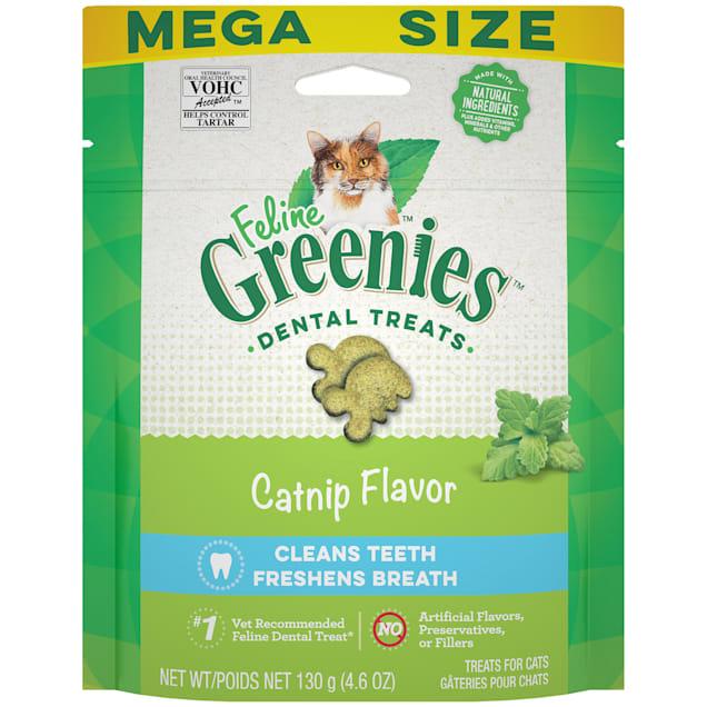 Feline Greenies Natural Catnip Flavor Adult Dental Cat Treats, 4.6 oz. - Carousel image #1