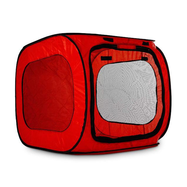 "Animaze Red Pop-Up Portable Dog Tent, 31.1"" L X 23.2"" W X 21.8"" H - Carousel image #1"