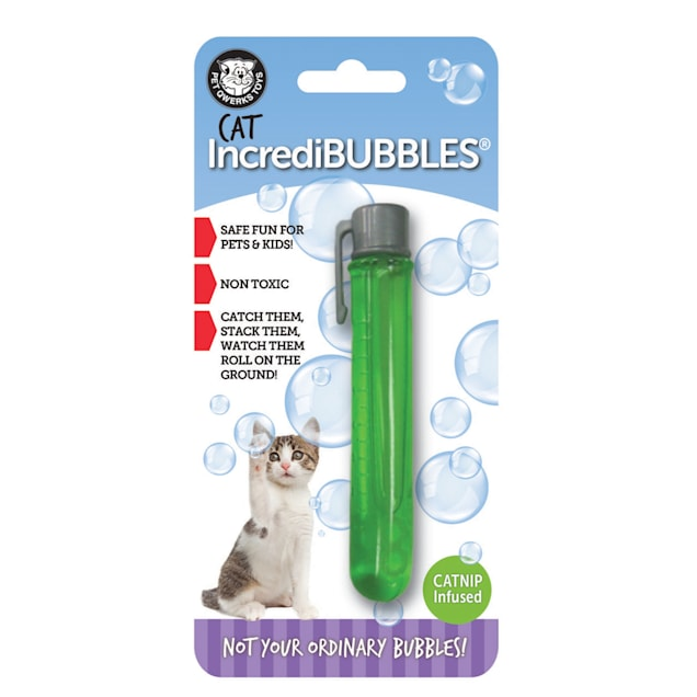 Pet Qwerks Incredibubbles Catnip Infused Bubbles for Cats - Carousel image #1