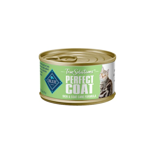 Blue Buffalo True Solutions Perfect Coat Whitefish Natural Skin & Coat Care Adult Wet Cat Food, 3 oz., Case of 24 - Carousel image #1