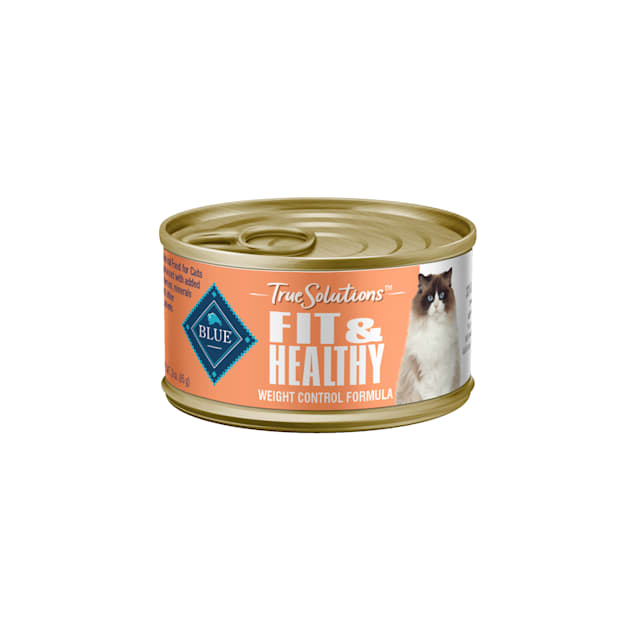 Blue Buffalo True Solutions Fit & Healthy Chicken Recipe Natural Weight Control Adult Wet Cat Food, 3 oz., Case of 24 - Carousel image #1