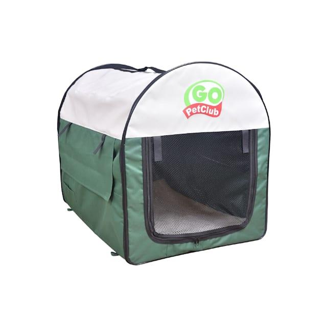 "Go Pet Club Folding Soft Green Dog Crate, 38"" L X 28"" W X 34"" H - Carousel image #1"