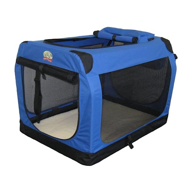 "Go Pet Club Portable Soft Blue Dog Crate, 32"" L X 23.25"" W X 23.25"" H - Carousel image #1"