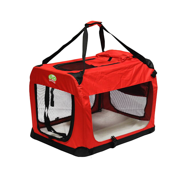 """Go Pet Club Portable Soft Red Dog Crate, 32"""" L X 23.25"""" W X 23.25"""" H - Carousel image #1"""