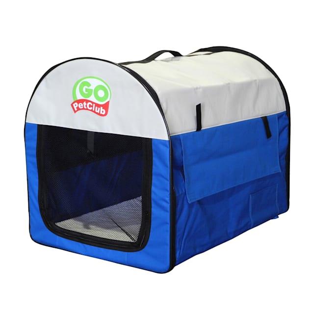 "Go Pet Club Folding Soft Blue Dog Crate, 38"" L X 28"" W X 34"" H - Carousel image #1"