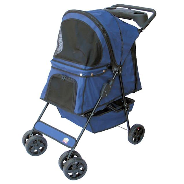 "Go Pet Club Dark Blue Pet Stroller, 35"" L X 19.75"" W X 36"" H - Carousel image #1"