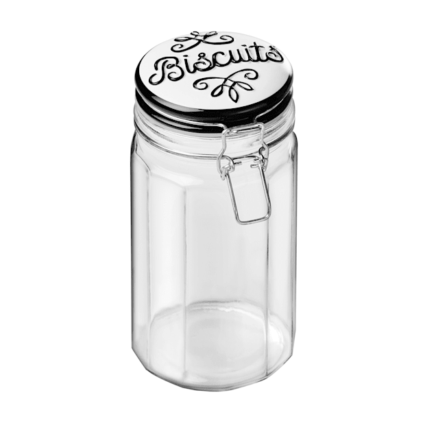 Amici Home Bella Biscuits Roma Hermetic Preserving Jar for Pets, Medium - Carousel image #1