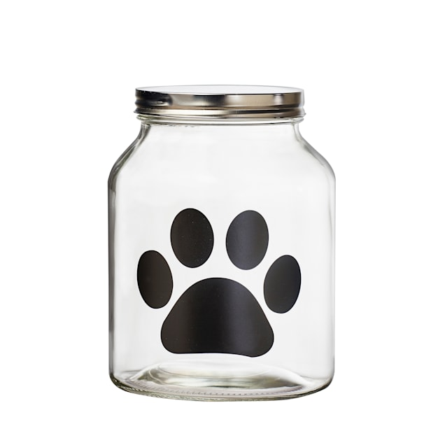 Amici Home Buddy Paw Chalkboard Pet Canister, Medium - Carousel image #1