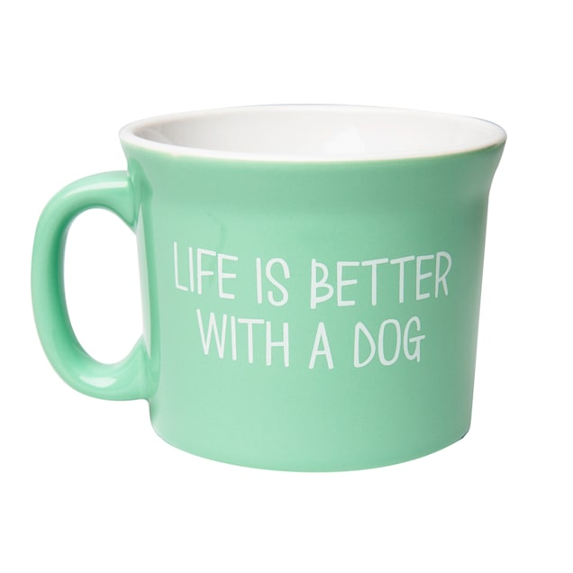 Amici Home Life Is Better  With a Dog Ceramic Coffe Mug - Carousel image #1