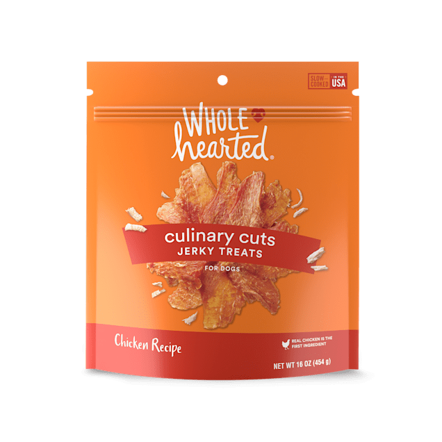 WholeHearted Culinary Cuts Chicken Recipe Jerky Dog Treats, 16 oz. - Carousel image #1