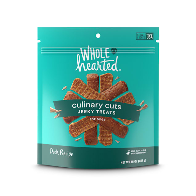 WholeHearted Culinary Cuts Duck Recipe Jerky Dog Treats, 16 oz. - Carousel image #1
