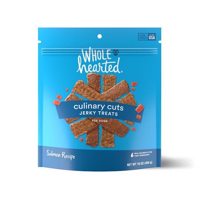 WholeHearted Culinary Cuts Salmon Recipe Jerky Dog Treats, 16 oz. - Carousel image #1