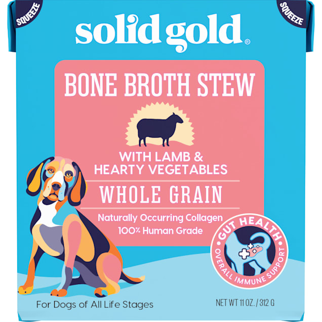 Solid Gold Bone Broth Stew with Lamb & Hearty Vegetables Wet Dog Food, 11 oz. - Carousel image #1
