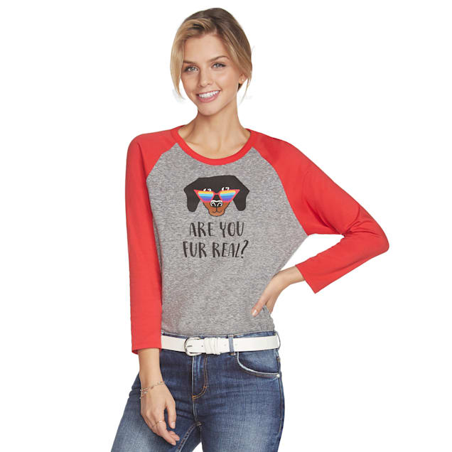 BOBS from Skechers Are You Fur Real Women's Baseball T-Shirt, Medium - Carousel image #1