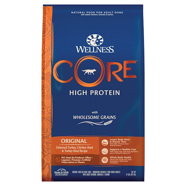 Wellness CORE Wholesome Grains Original Turkey Recipe Dry Dog Food, 24 lbs., Bag - Carousel image #1