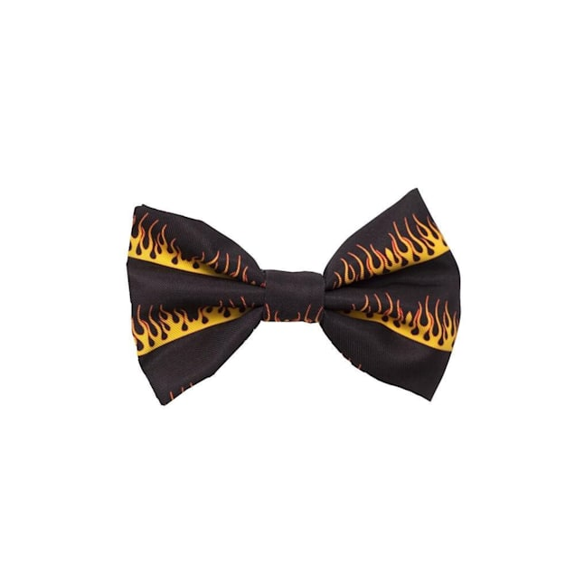 Fresh Pawz The Flame Thrower Dog Bowtie, Small - Carousel image #1