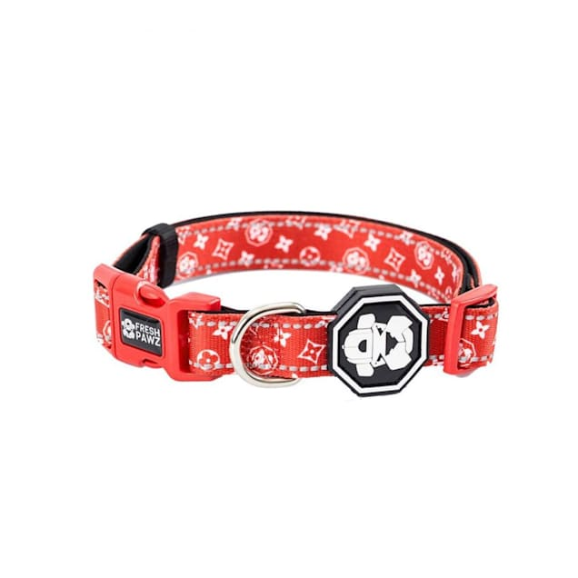 Fresh Pawz The Monogram Hype Dog Collar, Small - Carousel image #1