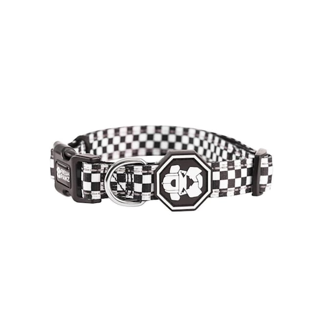 Fresh Pawz The Checkerboard Dog Collar, Small - Carousel image #1